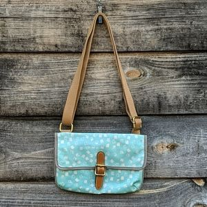 Fossil Coated Canvas Mini Crossbody Bag